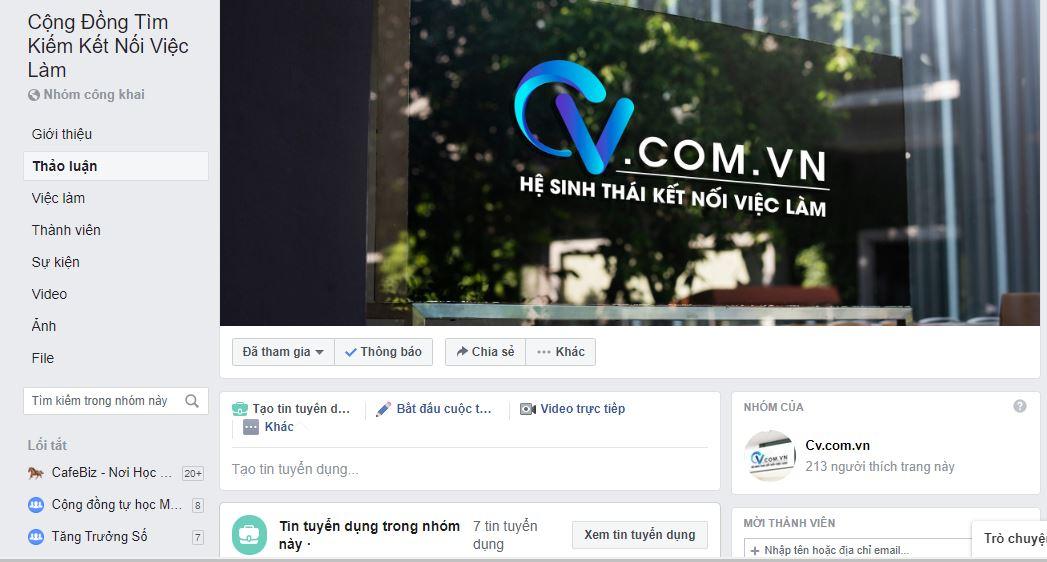 cv.com.vn group tuyen dung viec lam