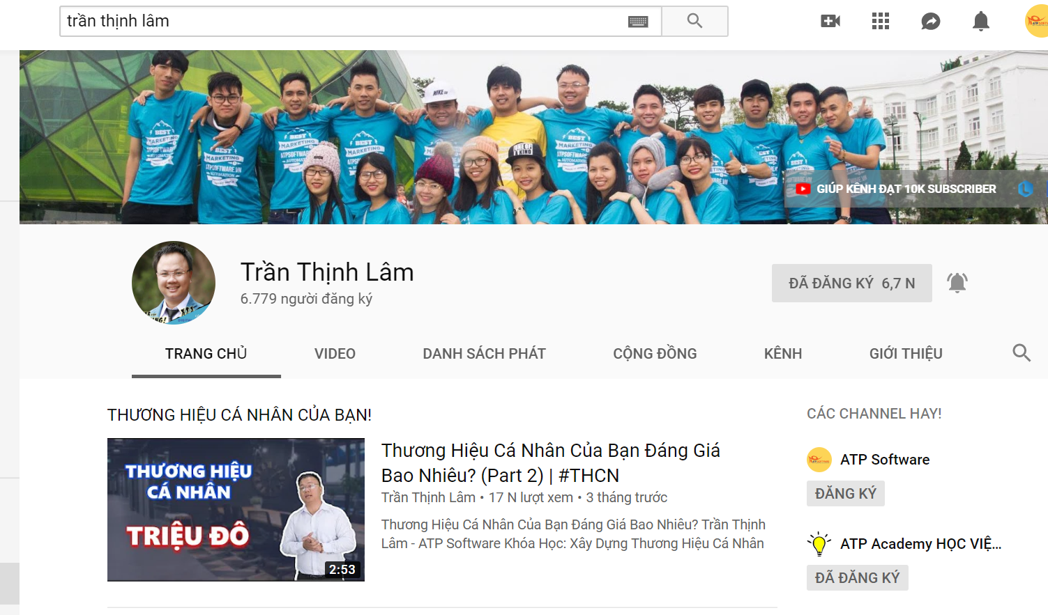 Lam Kenh Youtube