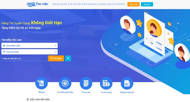 Timviec365.vn là Top 10 website tuyển dụng việc làm uy tín nhất năm 2019