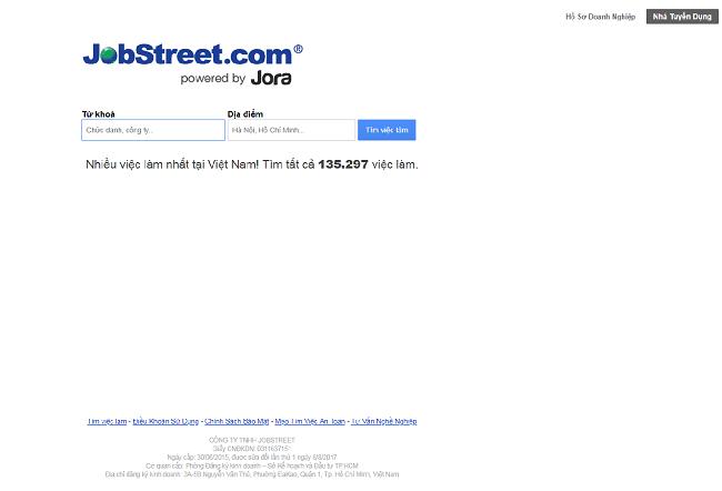 Jobstreet.vn là Top 10 website tuyển dụng việc làm uy tín nhất năm 2019
