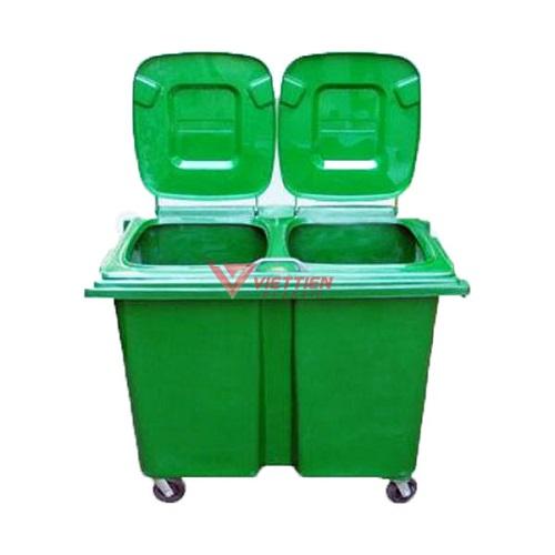 Thùng rác Composite 2 ngăn lớn