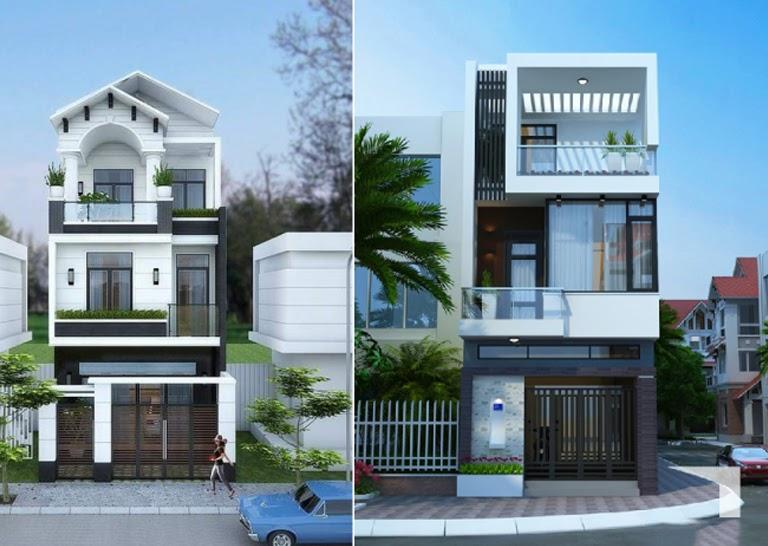 Có nhiều sự lựa chọn về thiết kế nhà phố 3 tầng