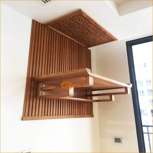 Thiết kế bàn thờ chung cư theo phong thủy giúp tài vượng đầy nhà