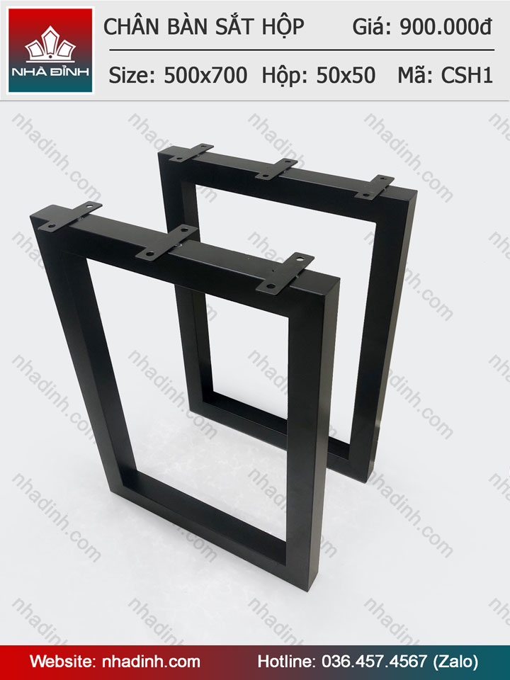 Chân sắt hộp vuông